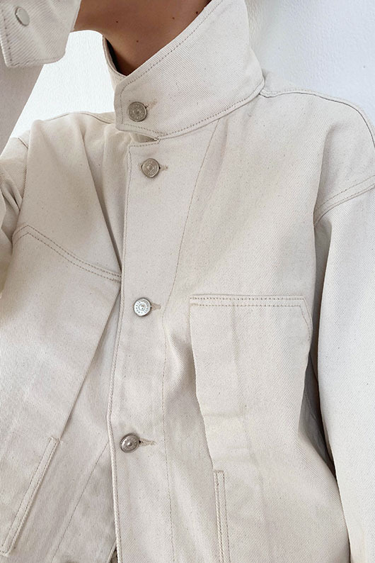 IVORY DENIM JACKET (W/M)